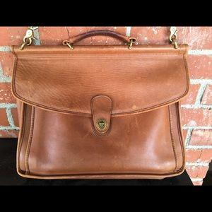 Coach Vintage Beekman Messenger Briefcase Bag Tan